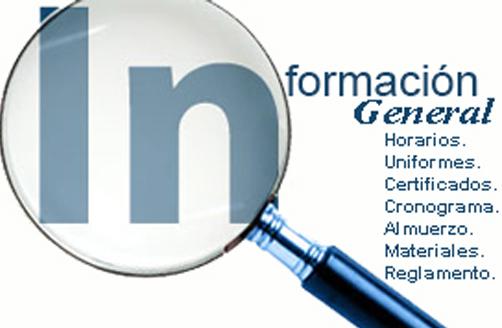 Información general inicio de año