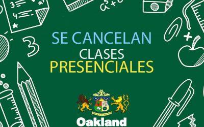 Se cancelan las clases presenciales